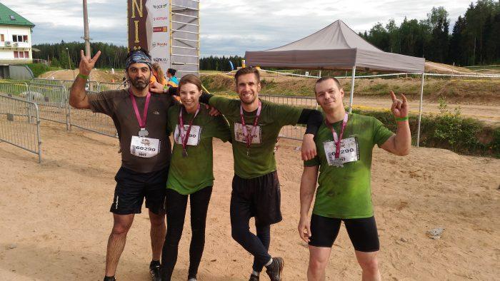 Nauris ar kolēģiem Stipro skrējienā