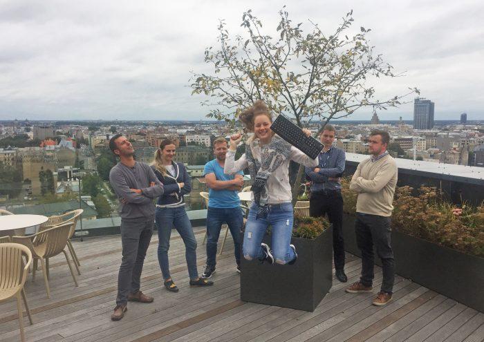 Aiga ar HoP komandu uz terases