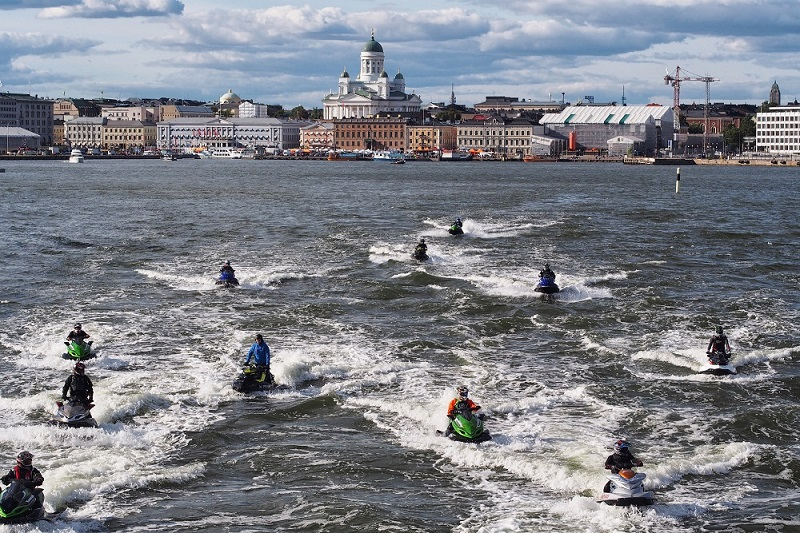 Jet skies heading to Tallinn from Helsinki South Port, 2013