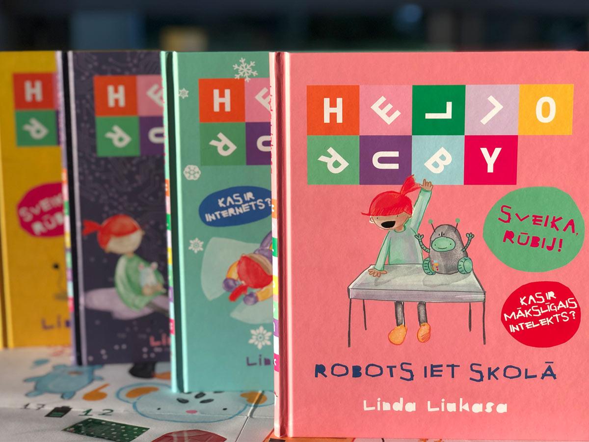 Grāmata bērniem par datoriem Hello Ruby