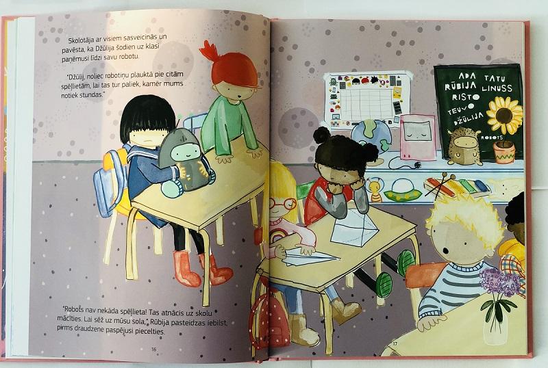 """Iekšlapas grāmatai bērniem par datoriem """"Sveika Rūbija"""""""