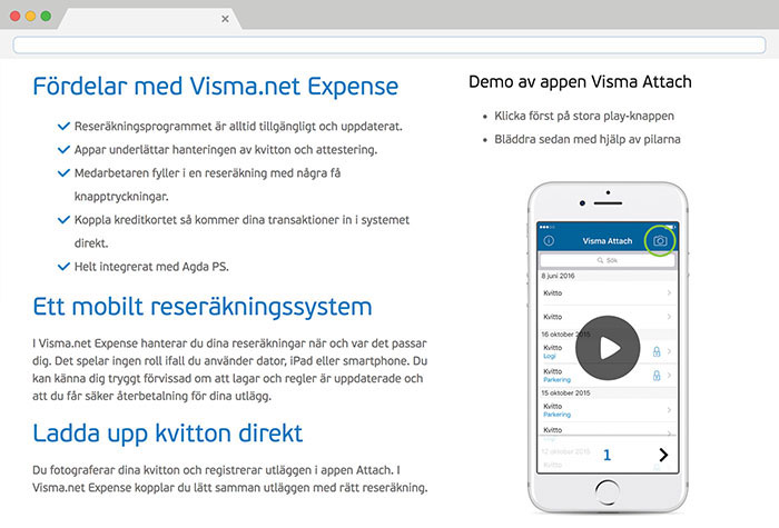 Visma.net Expense screenshot 2
